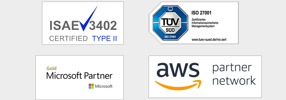 matrix technology AG_ISO27001_ISAE3402_AWS und Microsoft Partner